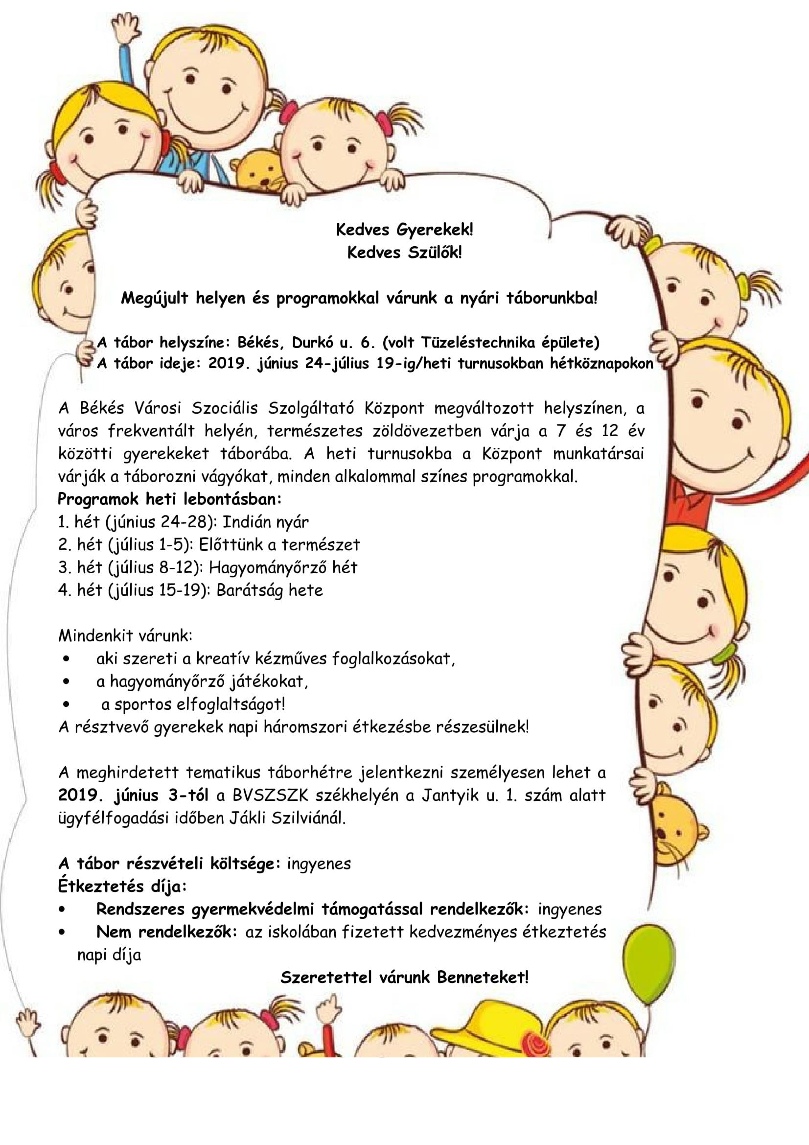 66478e7a68 Kedves Gyerekek! Kedves Szülők!